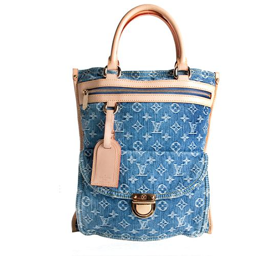 Louis Vuitton Monogram Denim Flat Shopper