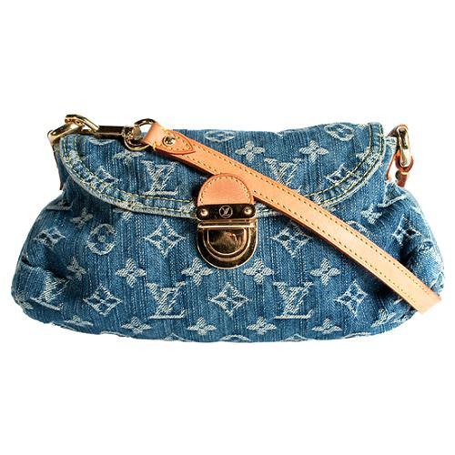 Louis Vuitton Monogram Denim Mini Pleaty Shoulder Handbag