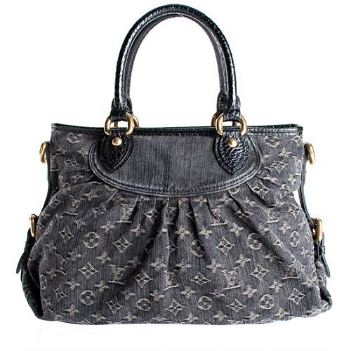 Louis Vuitton Monogram Denim Neo Cabby MM Handbag