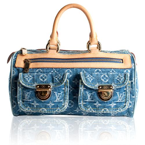 Louis Vuitton Monogram Denim Neo Speedy Satchel Handbag
