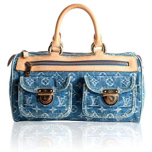 Louis Vuitton Monogram Denim Neo Speedy Satchel Handbag