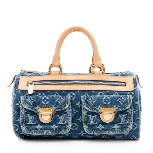 Louis Vuitton Monogram Denim Neo Speedy Satchel