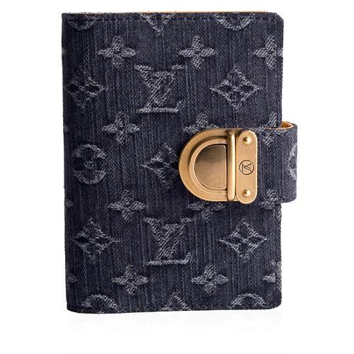 Louis Vuitton Monogram Denim Small Agenda Cover