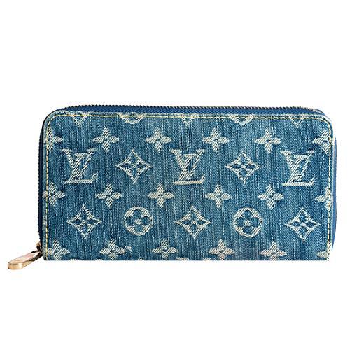 Louis Vuitton Monogram Denim Zippy Wallet