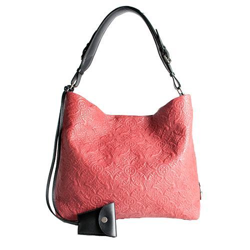 Louis Vuitton Monogram Embroidered Antheia PM Hobo Handbag