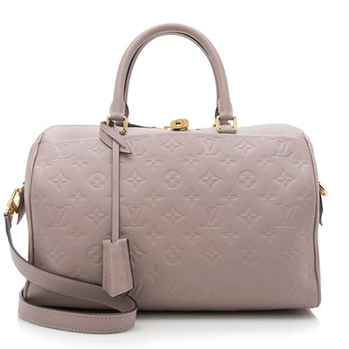 Louis Vuitton Monogram Empreinte Speedy Bandouliere 30 NM Satchel