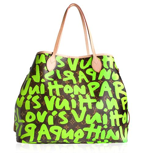 Louis Vuitton Monogram Graffiti Neverfull GM Tote