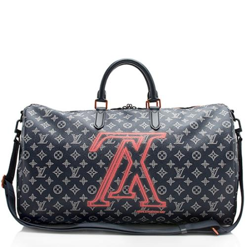 Louis Vuitton Monogram Ink Canvas Upside Down Apollo Bandouliere 50 Duffel Bag