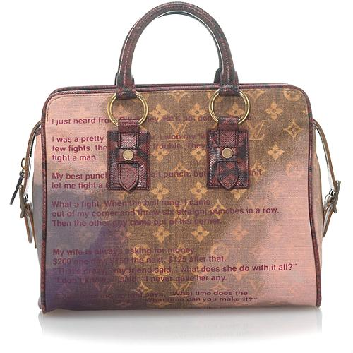 Louis Vuitton Monogram Jokes Graduate Satchel