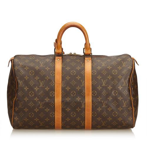 Louis Vuitton Monogram Canvas Keepall 45 Duffel Bag
