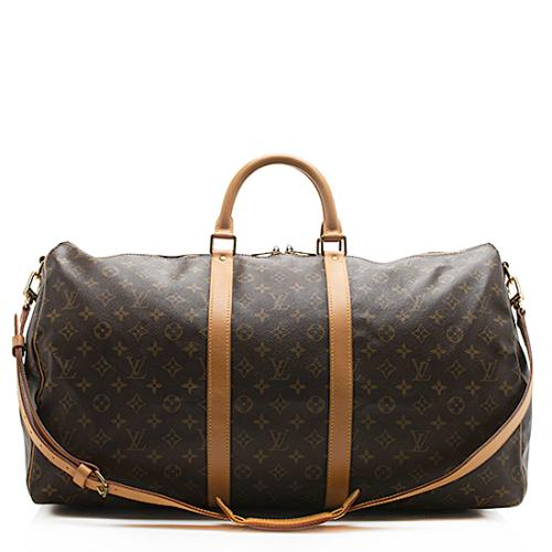 Louis Vuitton Vintage Monogram Keepall Bandouliere 55 Duffel Bag