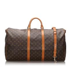 Louis Vuitton Monogram Canvas Keepall Bandouliere 60 Duffel Bag