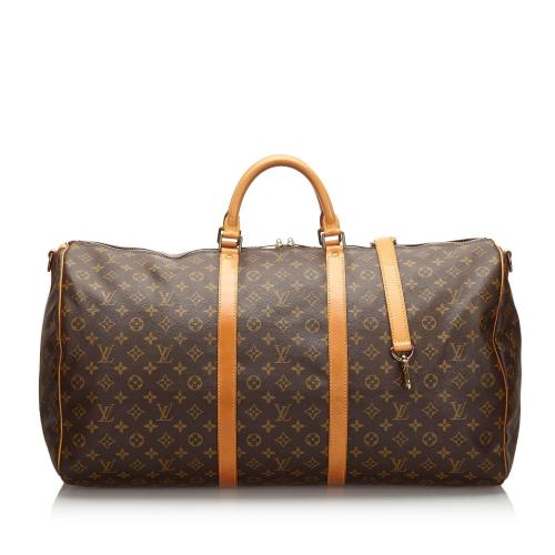 Louis Vuitton Monogram Canvas Keepall Bandouliere 60 Duffel Bag