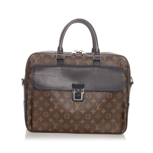 Louis Vuitton Monogram Macassar Soft Briefcase
