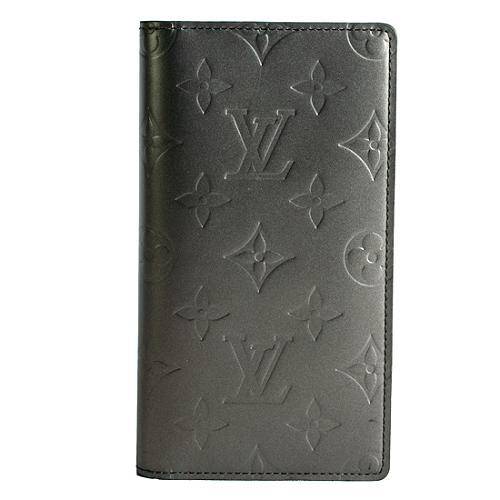 Louis Vuitton Monogram Mat Checkbook Cover Wallet
