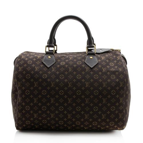 Louis Vuitton Monogram Mini Lin Croisette Speedy 30 Satchel