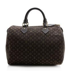 Louis Vuitton Monogram Mini Lin Croisette Speedy 30 Satchel