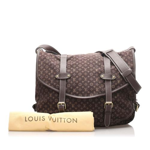 Louis Vuitton Monogram Mini Lin Saumur 43 Messenger Bag