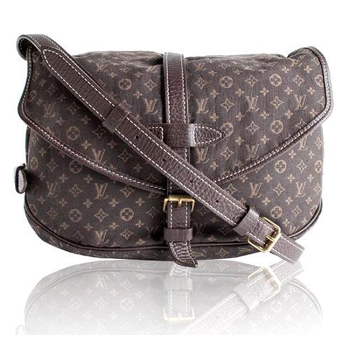 Louis Vuitton Monogram Mini Lin Saumur Messenger Handbag