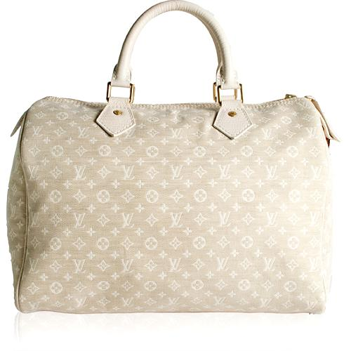 Louis Vuitton Monogram Mini Lin Speedy 30 Satchel Handbag