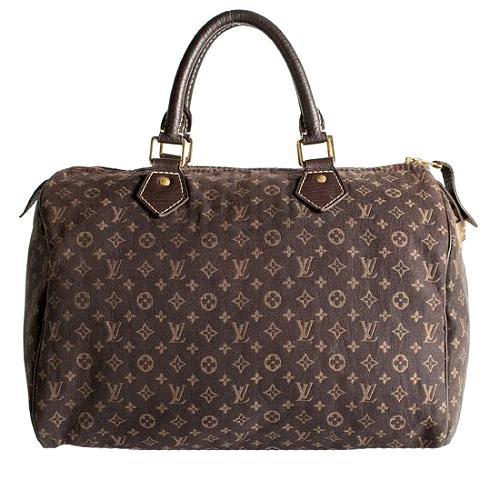 Louis Vuitton Monogram Mini Lin Speedy 30 Satchel Handbag