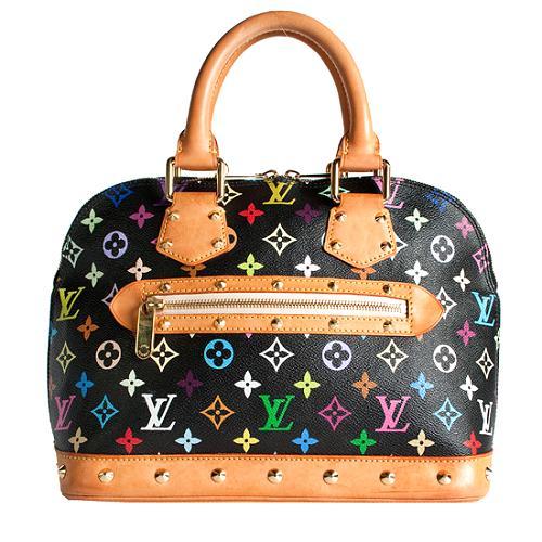 Louis Vuitton Monogram Multicolore Alma Satchel Handbag - FINAL SALE
