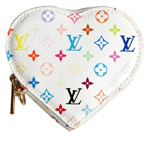 Louis Vuitton Monogram Multicolore Heart Coin Wallet