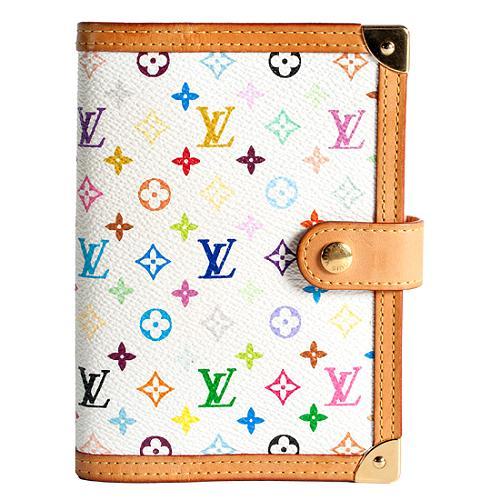 Louis Vuitton Monogram Multicolore Small Ring Agenda Cover and Pen