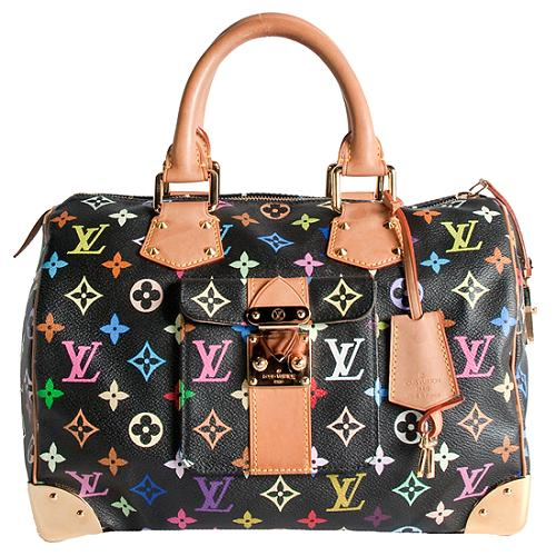 Louis Vuitton Monogram Multicolore Speedy 30 Satchel Handbag