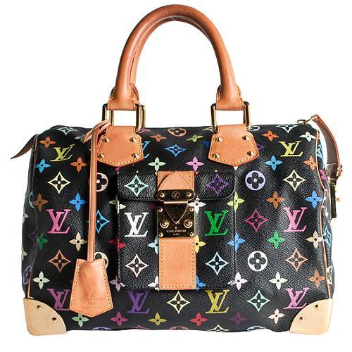 Louis Vuitton Monogram Multicolore Speedy 30 Satchel Handbag