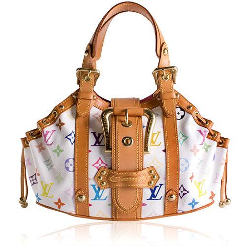 Louis Vuitton Monogram Multicolore Theda GM Satchel Handbag
