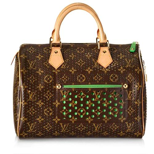 Louis Vuitton Monogram Perforated Speedy 30 Satchel Handbag