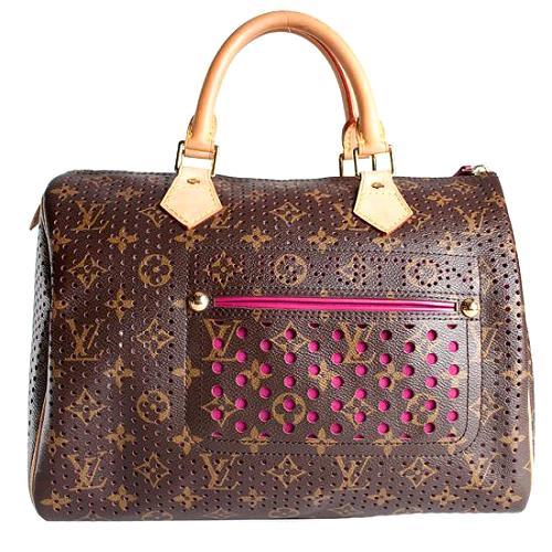 Louis Vuitton Monogram Perforated Speedy 30 Satchel Handbag