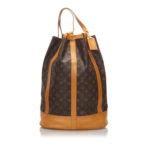Louis Vuitton Vintage Monogram Canvas Randonnee GM Sling Backpack