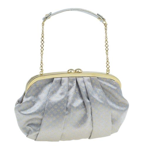 Louis Vuitton Limited Edition Satin Aumoniere Clutch