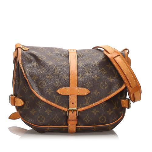 Louis Vuitton Monogram Canvas Saumur 30 Shoulder Bag