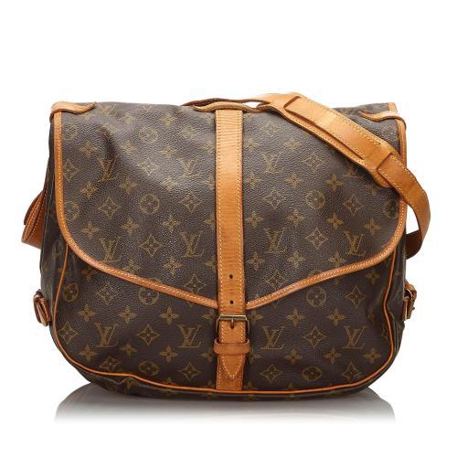 Louis Vuitton Monogram Saumur 35 Messenger Bag
