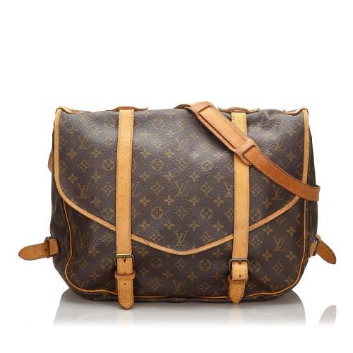 Louis Vuitton Monogram Canvas Saumur 43 Messenger Bag