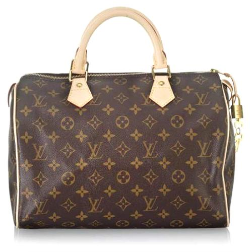 Louis Vuitton Monogram Speedy 30 Satchel Handbag