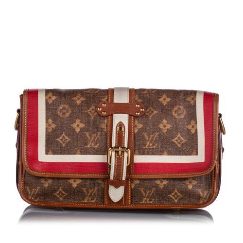 Louis Vuitton Monogram Tisse Porte Rayures Shoulder Bag