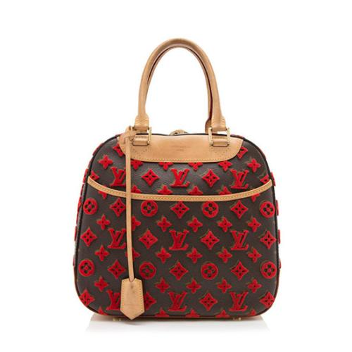 Louis Vuitton Monogram Tuffetage Deauville Cube Bag