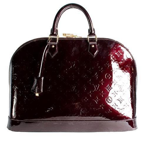 Louis Vuitton Monogram Vernis Alma GM Satchel Handbag