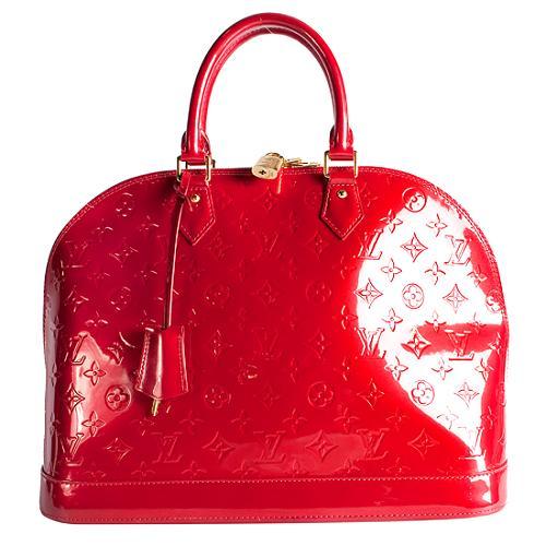 Louis Vuitton Monogram Vernis Alma MM Satchel Handbag