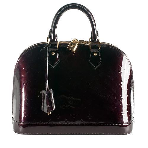 9c4389341a9bb Louis-Vuitton-Monogram-Vernis-Alma-PM-Satchel 56891 front large 1.jpg