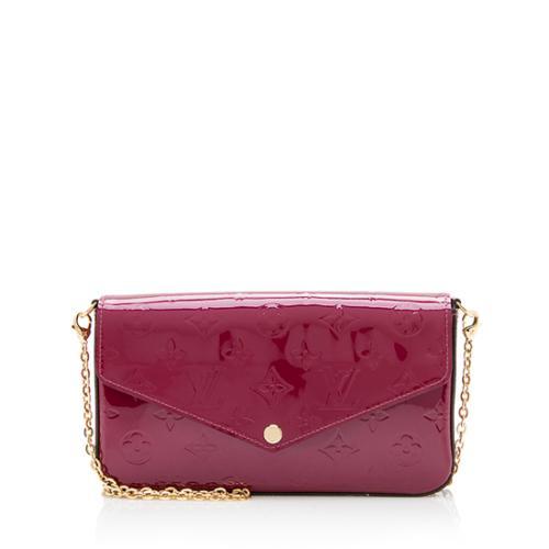 Louis Vuitton Monogram Vernis Felicie Wallet On Chain Bag