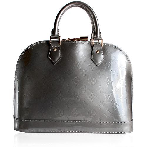 Louis Vuitton Monogram Vernis Gris Art Deco Alma PM Satchel Handbag