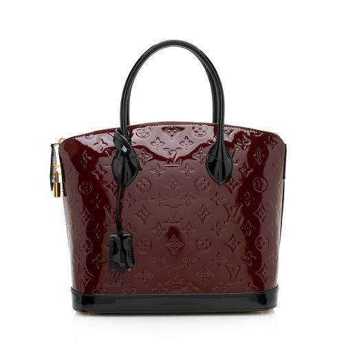 Louis Vuitton Monogram Vernis Lockit PM Satchel