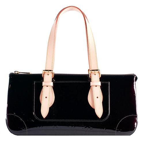 Louis Vuitton Monogram Vernis Rosewood Satchel Handbag