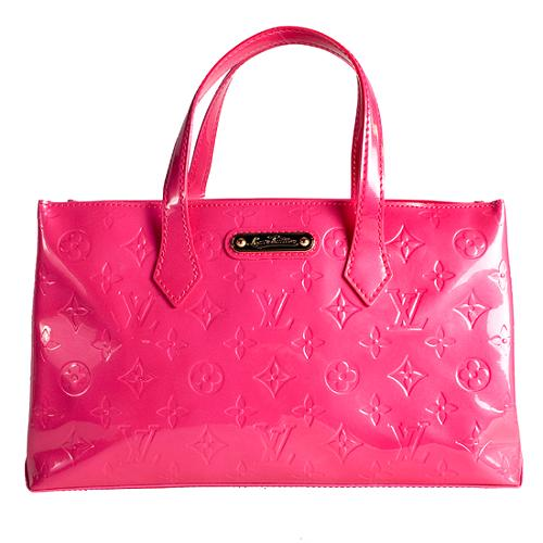 Louis Vuitton Monogram Vernis Wilshire PM Satchel Handbag