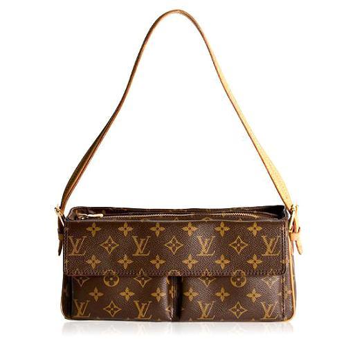 Louis Vuitton Monogram Viva Cite MM Shoulder Handbag